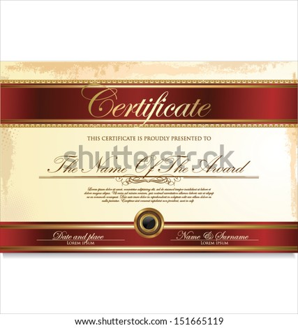 Certificate Template Additional Design Elements Vector – Membership Certificate Template