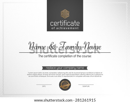 certificate template. - stock vector