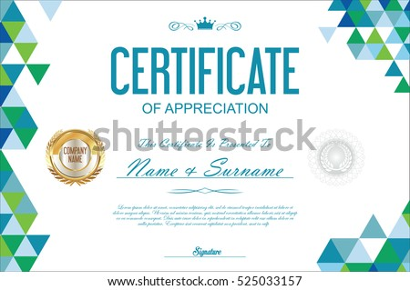 Certificate template abstract geometric design background stock certificate template abstract geometric design background yadclub Image collections