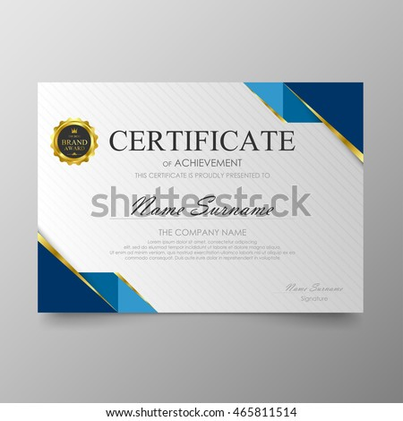 certificate template awards diploma background vector stock vector  certificate template awards diploma background vector modern value design and luxurious elegant illustration layout cover
