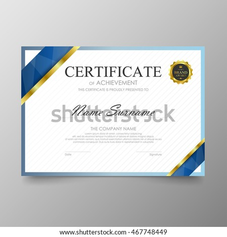 Gold Certificate Stock Images Royalty Free Images