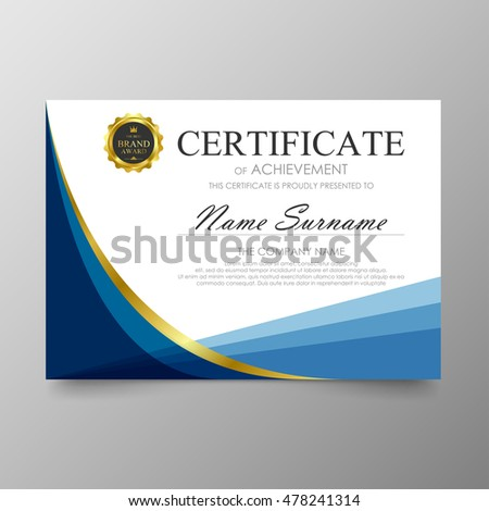 Certificate template awards diploma background vector stock vector certificate template awards diploma background vector modern value design and luxurious elegantlustration layout cover yadclub Image collections