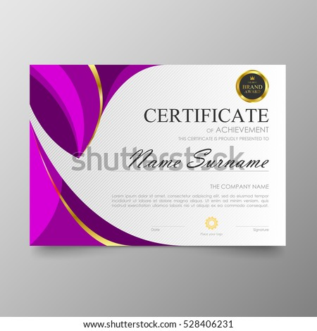 Certificate template awards diploma background vector stock vector certificate template awards diploma background vector modern value design and luxurious elegantlustration layout cover yelopaper Gallery