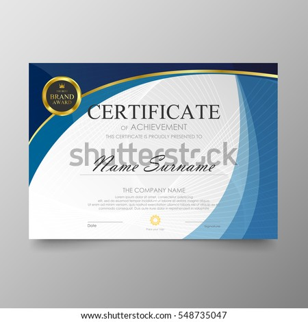 Certificate template awards diploma background vector stock vector certificate template awards diploma background vector modern value design and luxurious layout leaflet cover elegant yadclub Gallery