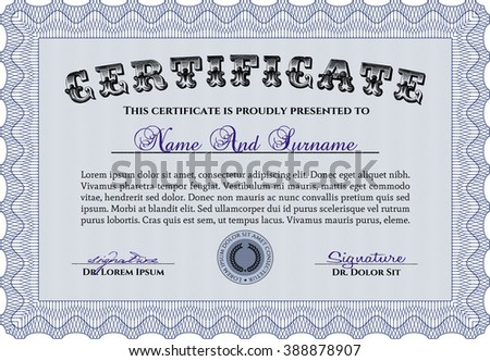 Certificate template customizable easy edit change stock vector certificate template customizable easy to edit and change colors nice design easy yelopaper Images