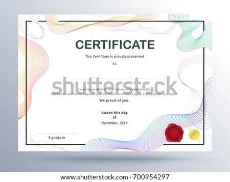 Certificate template design simple concept business stock vector certificate template design with simple concept business certificate design cheaphphosting Images