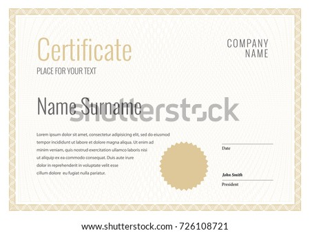 Certificate template diploma currency border award certificate template diploma currency border award background gift voucher vector illustration yelopaper Gallery