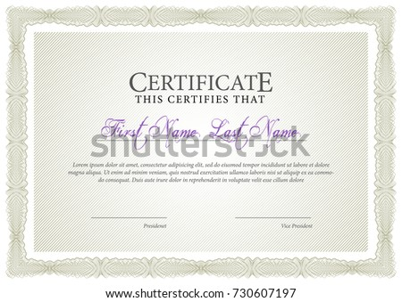 Certificate template diploma currency border award stock vector certificate template diploma currency border award background gift voucher vector illustration yelopaper Choice Image