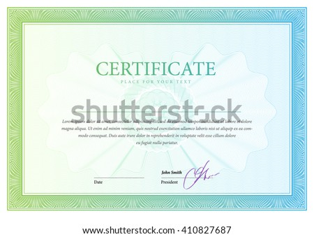 Certificate template diplomas currency award background for Gift certificate template with logo