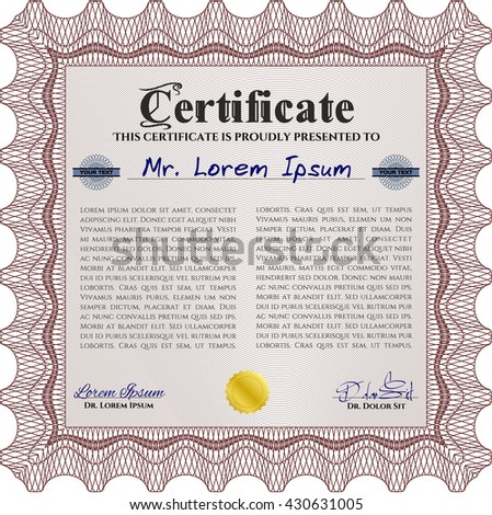 Certificate diploma template design elements stock vector 99894308 certificate template eps10 jpg of achievement diploma vector illustration design completion yadclub Choice Image