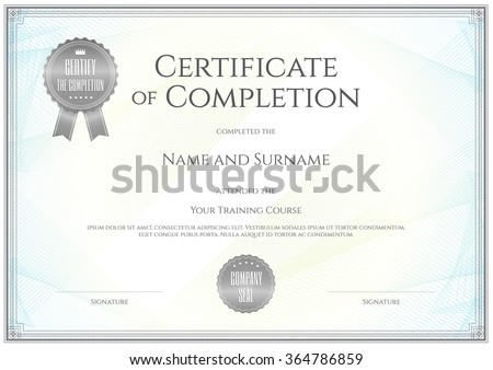 Certificate Images RoyaltyFree Images Vectors – Training Certificate Template Free Download