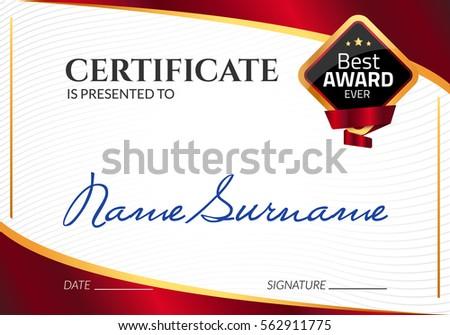 Certificate Template Luxury Award Vector Business Vector – Business Certificate Template