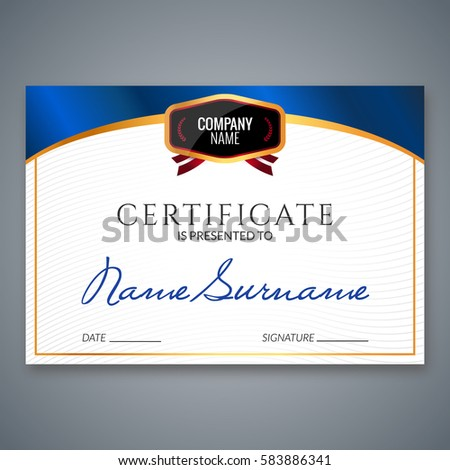 Certificate template luxury award vector business stock vector 2018 certificate template luxury award vector business diploma with seal stamp gift coupon or success wajeb Image collections