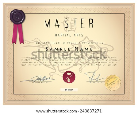 martial art certificate templates free - jdrv 39 s certificates set on shutterstock