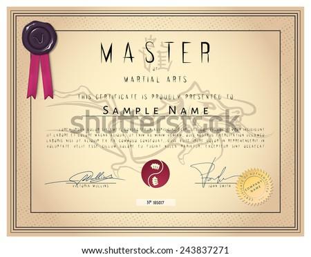 Martial Art Certificate Templates Free