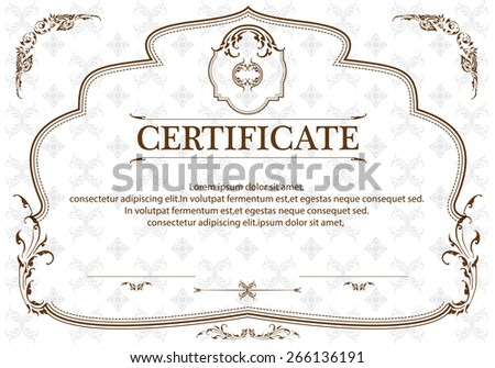 Certificate Template Thai Art Certificate Design Stock Vector