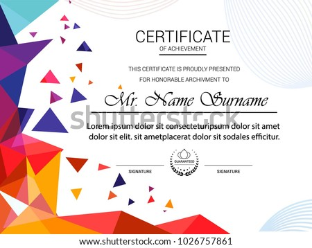 Certificate template vector illustration stock vector 1026757861 certificate template vector illustration yadclub Image collections