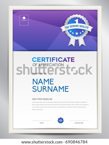 Certificate template vector illustration diploma layout stock vector certificate template vector illustration diploma layout stock vector 690846784 shutterstock yelopaper Images