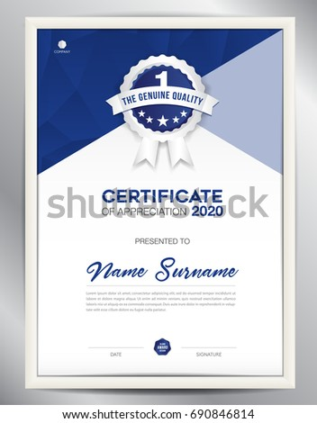 Certificate template vector illustration diploma layout stock vector certificate template vector illustration diploma layout in a4 size business flyer design advertisement accmission Images