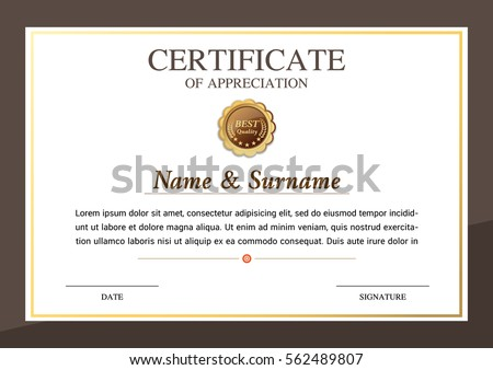 Certificate Template Warranty Stock Photo Photo Vector