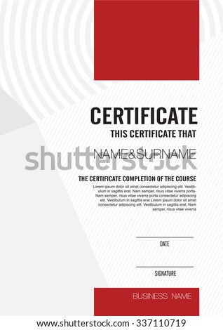 Horizontal certificate template diploma vector certificate template with clean and modern patternvector illustration yelopaper Image collections