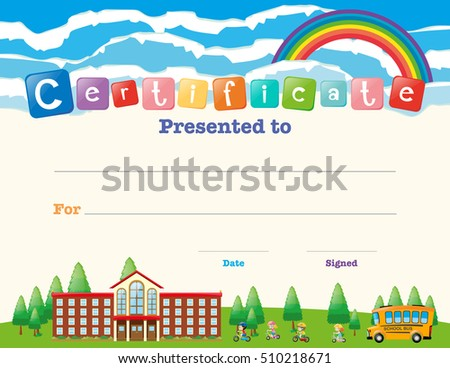 Kids Certificate Images RoyaltyFree Images Vectors – Certificate Template for Kids