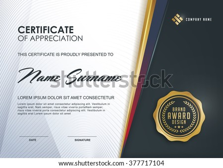 Certificate template luxury modern patterndiploma vector certificate template with luxury and modern patterndiplomavector illustration yelopaper Images