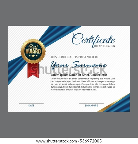 template for a certificate of achievement