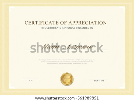 Gold certificate stock images royalty free images vectors certificate template with luxury patterndiplomavector illustration design yelopaper Gallery