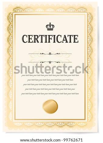 certificate vector - stock vector
