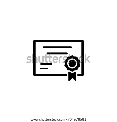 Certification Diploma Simple Black Icon Stock Vector 704678581 ...