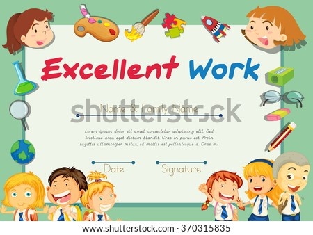 Certificate Of Excellence Images RoyaltyFree Images – Star Student Certificate Template