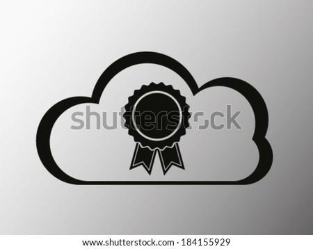 Certified Cloud Service - stock vector