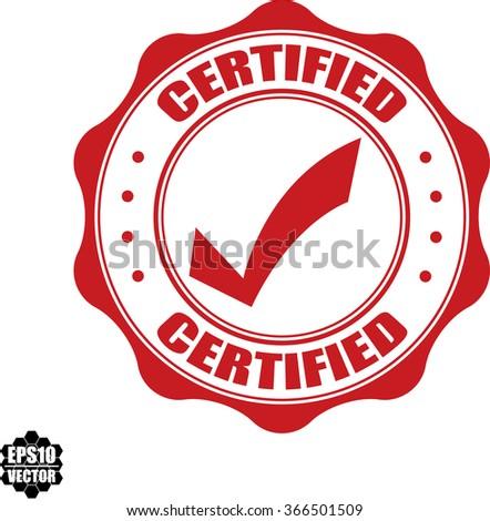 Certified stamp.Vector. - stock vector