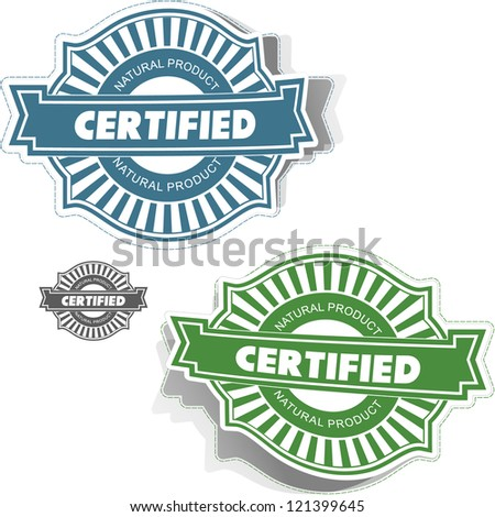Certified stamp. Vector illustration. - stock vector