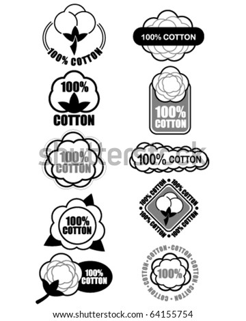 Certify Seal of 100% Cotton Isolated, ideal for cotton products such a clothes and materials