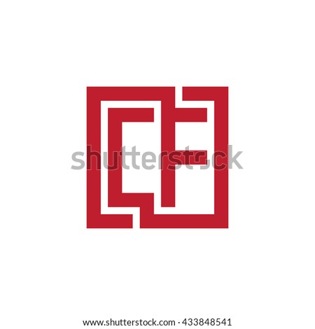 CF initial letters looping linked square logo red