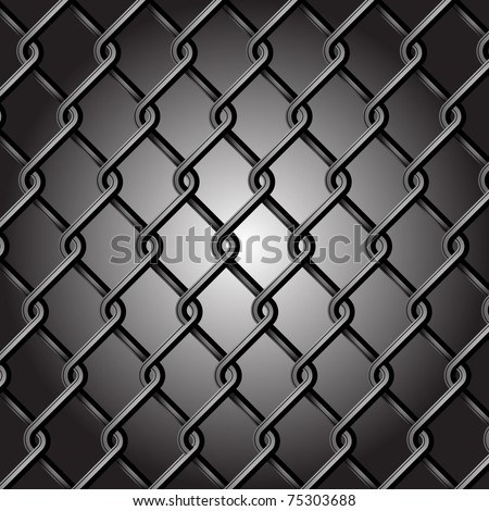 Chain Fence Vector - stock vector