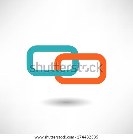Chain icon - stock vector