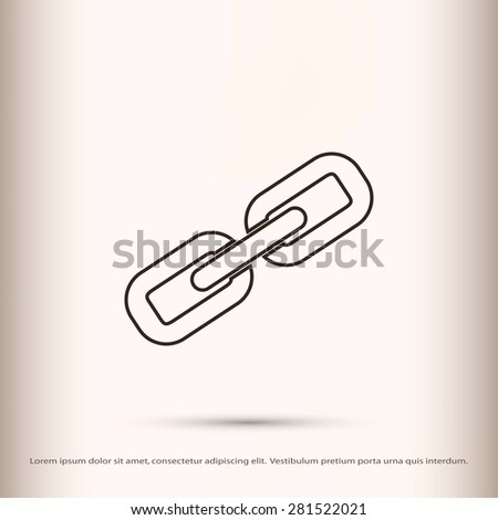 Chain link icon vector - stock vector