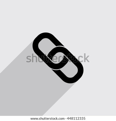 Chain Link Vector chain link vector icon black illustration stock vector 257076661