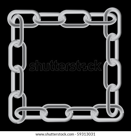 Chain links pattern - stock vector