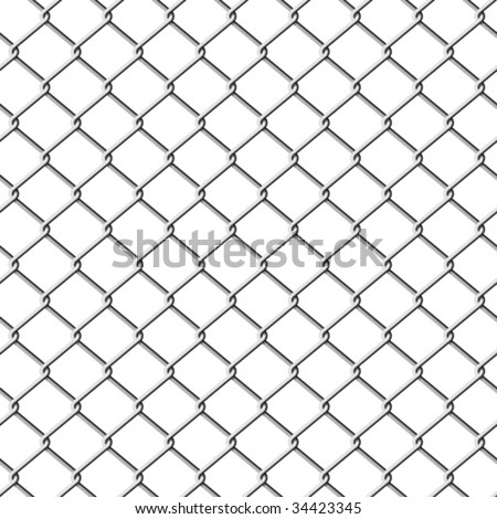 Chainlink fence. Seamless. Vector. - stock vector