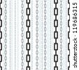 Chains seamless pattern, vector background. - stock photo