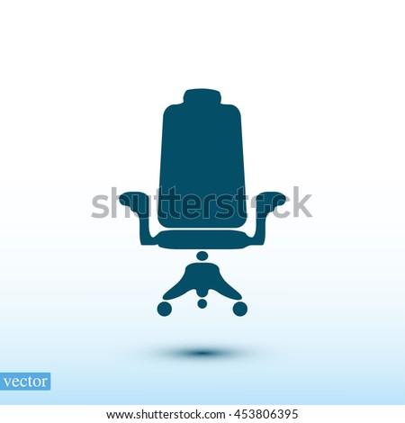 chair icon - stock vector