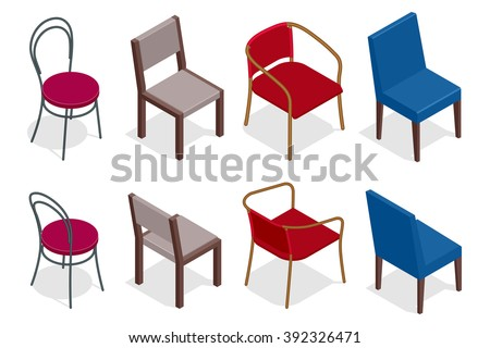 Chair vector, Chair icon eps10, Chair illustration, cafe chair, Chair icon flat, Chair icon, Chair collection, Chair isometric, Chair icon  illustration, Chair icon, Chair 3d, Chair - stock vector