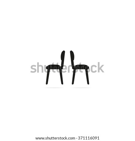 Chairs icon - stock vector
