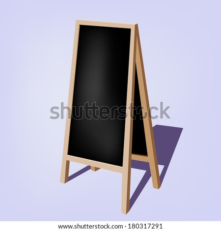 chalkboard for represent promotion collection / Blank Black Storefront chalkboard labels / - - stock vector