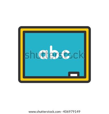 Chalkboard fully scalable vector icon in outline style. - stock vector
