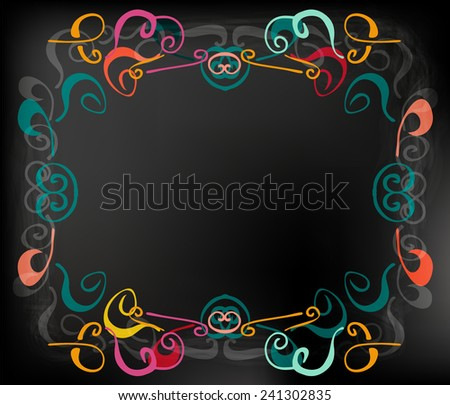 chalkboard menu - stock vector